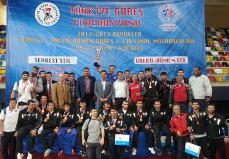 2012-2013 Sezonu Büyük Erkekler 1. Lig Grekoromen Güreş Türkiye Şampiyonu İstanbul Büyük Şehir Belediyesi Spor Kulübü oldu.