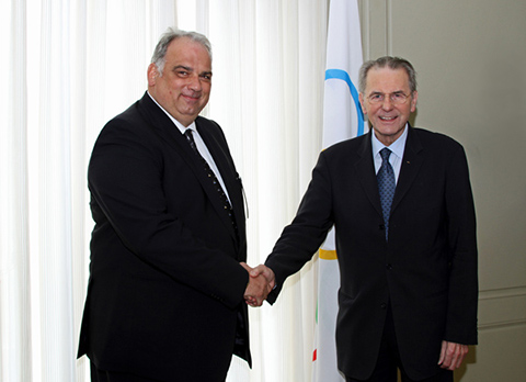 FILA geçici başkanı lalaoviç ve J.Rogge biraraya geldi…Karalin'den IOC'ye çağrı..Hepsi.www.fila-wrestling.com 'da..