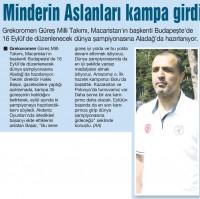 Güreş Milli Takımı, Aladağ'da hazırlanıyor!