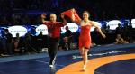 Los Angeles. 58kg Elif jale Yesilirmak Dunya ucuncusu olup, 2016 Rio biletini kapti